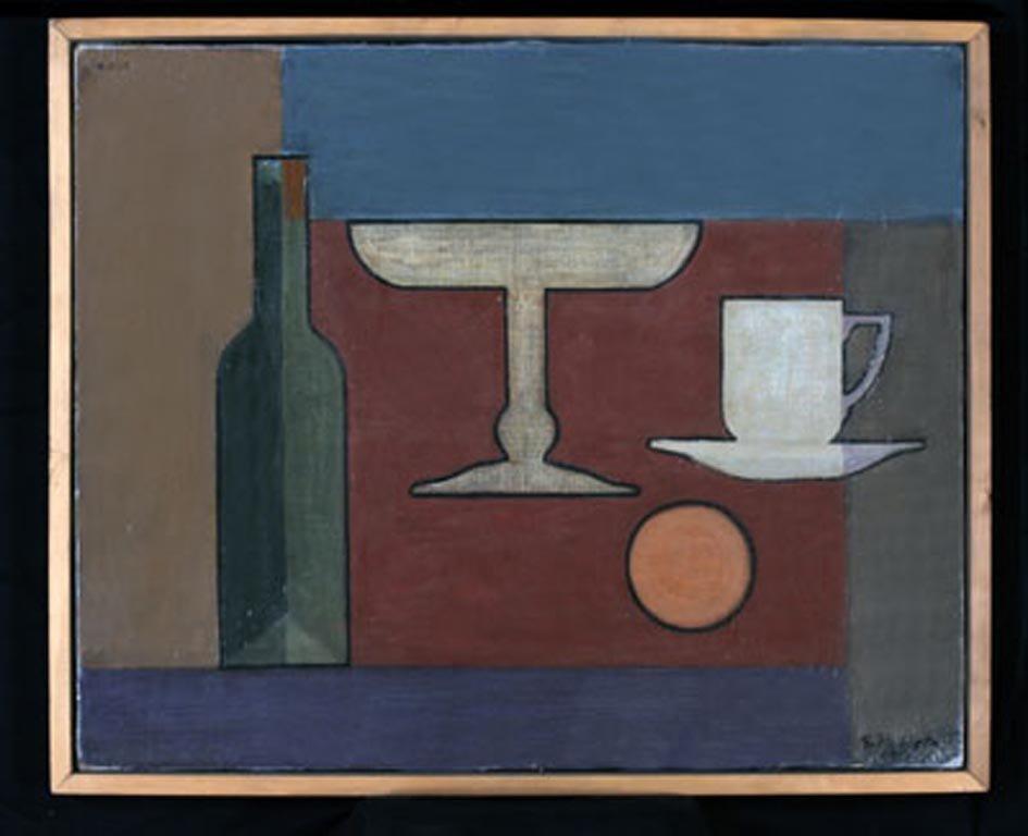 E.C.-1 (ELEMENTOS CONJUGADOS N°1)  1951  óleo sobre tela 0.49,5 x 0.61 mts. Colección privada