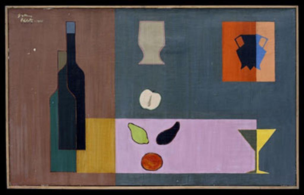 E.C.-8-55 (ELEMENTOS CONJUGADOS N° 8)  1955  óleo sobre tela 0.60 x 0.96
