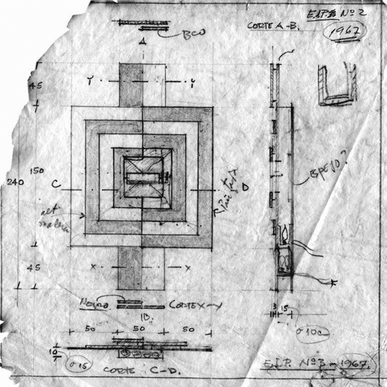 boceto general planopoblete Elemento Integracion Plastica n°2 20x20cms detalle bn