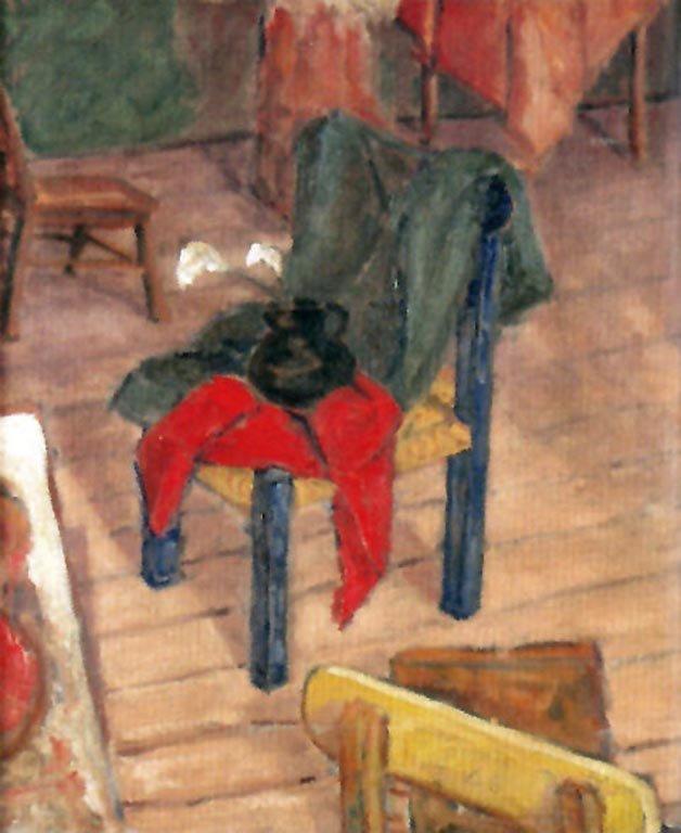 RINCÓN DEL TALLER 1945  Óleo sobre tela  0.51 x 0.61