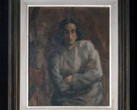 MI HERMANA BELÉN 1946  óleo sobre tela  0.51 x 0.61 Colección privada