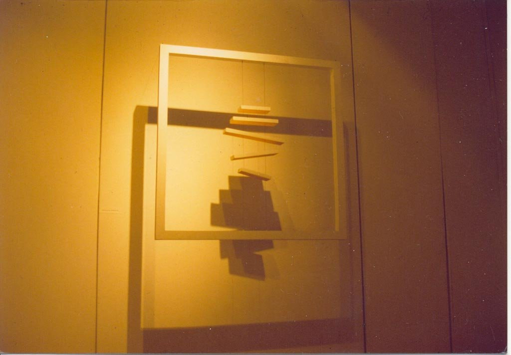 Elemento Integracion plástica n° 7 1994 madera pintada 1.00 x 1.00