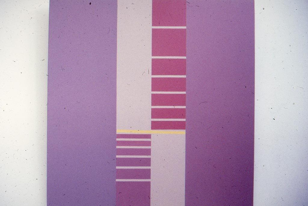 J.V. -010-88 1988 Óleo sobre tela 1.20 x 1.20 mts.