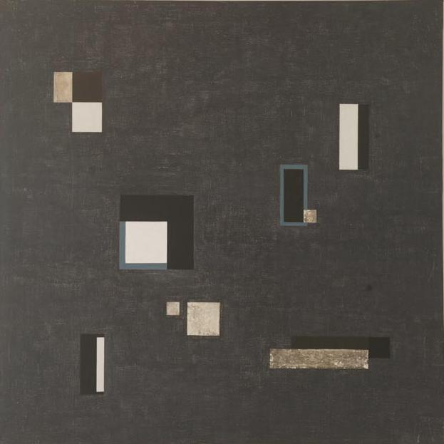SERIE NEGRA N°3 1965 acrílico s/tela 1.50 x1.50