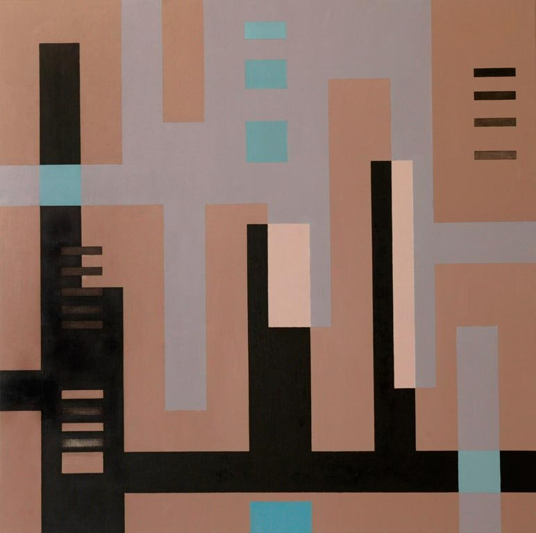 Serie Negra n° 17  1968  mixta sobre tela 1.20x1.20 mts