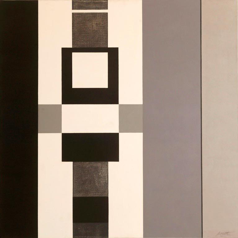 SERIE NEGRA N°16 1967 Recuperada 2001 óleo sobre tela 1.00 x 1.00 mts.