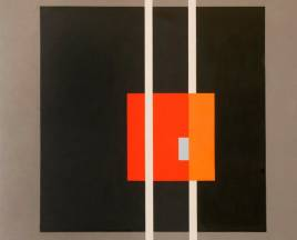53.a Serie Negra   nº12  1.20x1.20 Oleo en Tela  1967