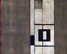SERIE NEGRA N°8 1965  mixta s/tela 0. 59 x 1.50 mts.