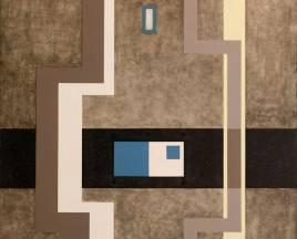 SERIE NEGRA N°1 1963  Recuperada 2002  mixta s/tela 1.50 x 1.50 mts.