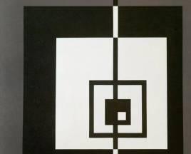 SERIE NEGRA N°10 1966 (recreado 1998) acrílico s/tela 1.20 X 1.20 mts.